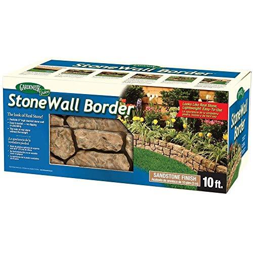 BestNest Gardeneer Stonewall Faux Stone Border Edges, Tan, Pack of ()