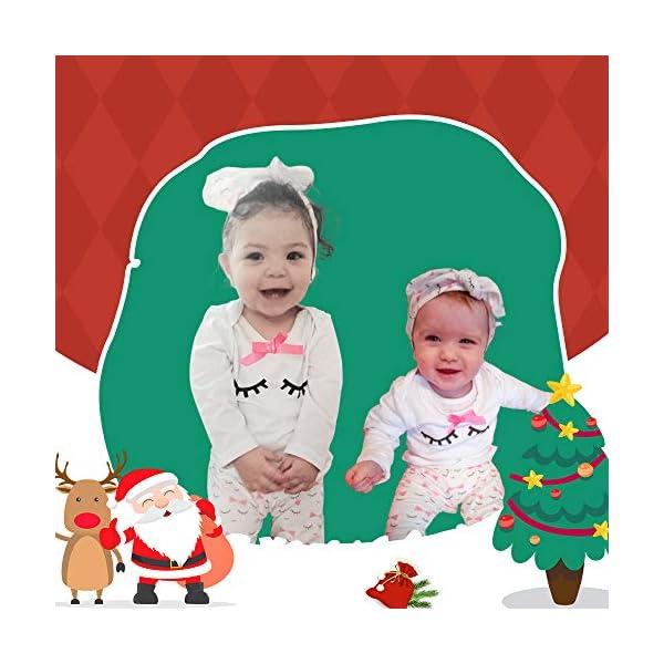 Bambina Completini e Coordinati Bambino Manica Lunga Top + Pantaloni + Headband o Hat Prima Infanzia 3 Pezzi… 5