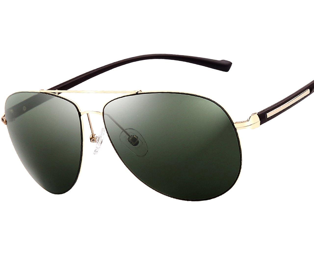 1c6420f85b ATTCL® 2015 Men Polarized Ultralight Sunglasses Uv400 Protection Aviator  Sunglasses 2362 Green  Amazon.co.uk  Clothing