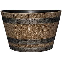 GAREDENGOODZ 74 - Macetero de whisky, 9.0in, roble envejecido, Roble