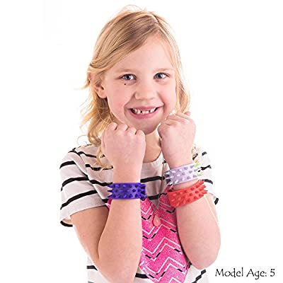 Spiky Slap Bracelets / Bands (3 Pack) - 100% Silicone Great Sensory and Fidget Toy - BPA Free / Phthalate Free /Latex-Free for Adults & kids with ADD/ADHD Autism, or Sensory issues - Reduces stress: Toys & Games