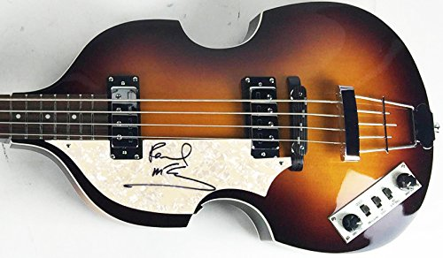 PAUL MCCARTNEY SIGNED HOFNER BEATLES BASS GUITAR PSA DNA CAIAZZO JSA COAs