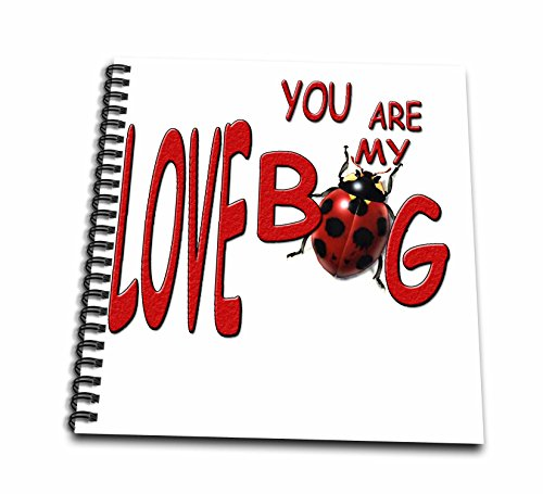 3dRose db_1320_1 You are My Love Bug Drawing Book, 8 by 8-Inch