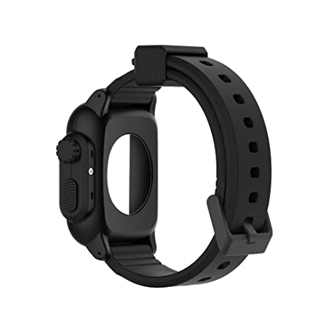 online store 589f1 3b236 Amazon.com: Fiaya Compatible Apple Watch Band Case 38mm 42mm ...