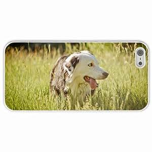 Customized Apple iPhone 5 5S PC Hard Case Diy Personalized DesignCover dog summer White