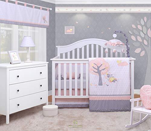- OptimaBaby Little Puppy Dog Girl 6 Piece Baby Nursery Crib Bedding Set