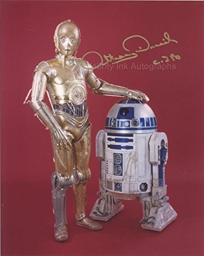 ANTHONY DANIELS as C-3PO - Star Wars GENUINE AUTOGRAPH