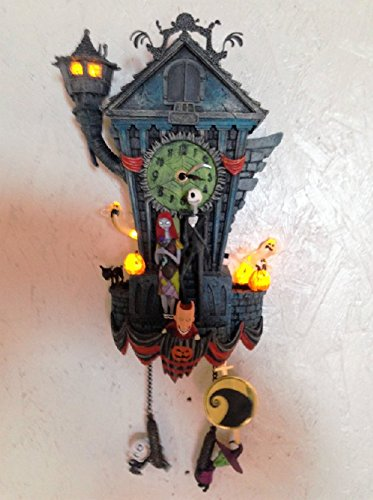 Cuckoo Clock: Tim Burton's The Nightmare Before Christmas Wall Clock by The Bradford Exchange