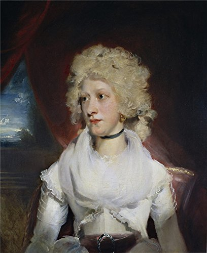 Oil Painting 'Lawrence Thomas Miss Marthe Carr Ca. 1789', 18 x 22 inch / 46 x 56 cm , on High Definition HD canvas prints is for Gifts And Basement, Game Room And Laundry Room Decoration
