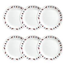 Corelle Livingware Lunch Plates, 6 Pack, Blue/Red