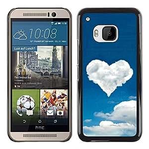 Be Good Phone Accessory // Dura Cáscara cubierta Protectora Caso Carcasa Funda de Protección para HTC One M9 // Cloud heart