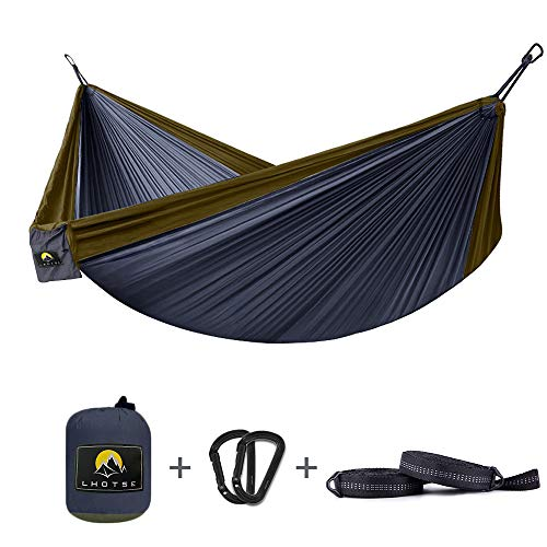 LHOTSE Double&Single Hammocks - Lightweight Parachute Portable Hammocks for Hiking, Travel, Backpacking, Beach. 120