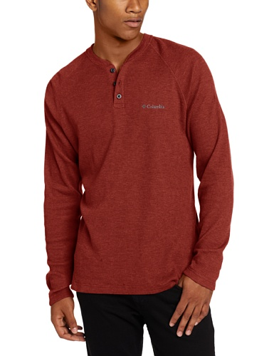 Columbia Men's Tall Endless Highs Henley, Red Element, Large/Tall