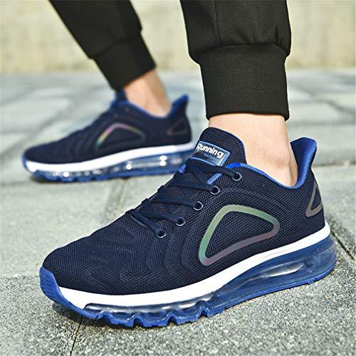Monrinda Hombre Zapatillas de Deporte Calzado Deportivo Zapatos para Correr Sneakers Negro