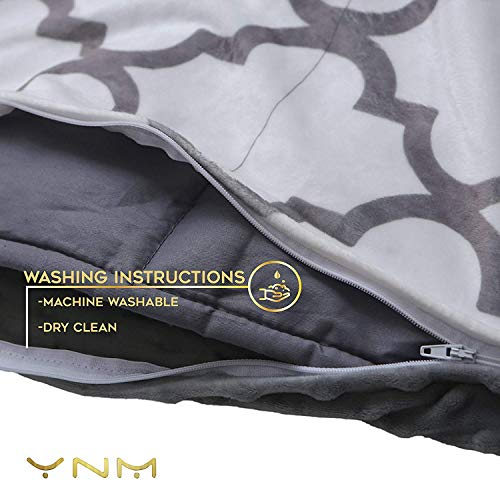 YnM Weighted Blanket 15 lbs Weighted Blankets