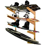 StoreYourBoard Timber Wakeboard Storage Rack, Solid
