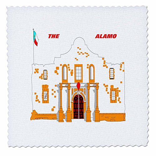 3dRose qs_45081_3 The Alamo for Kids-Quilt Square, 8 by 8-Inch