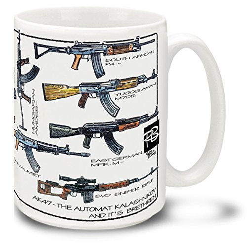 Cuppa Second Amendment Rights 15-Ounce Coffee Mug with AK-47's (Best Made Ak 47)