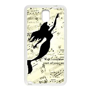 Mermaid Swimming In Music Note White Samsung Galaxy Note3 case