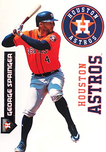 FATHEAD Teammate George Springer Houston Astros Logo Set Official MLB Vinyl Wall Graphics 17