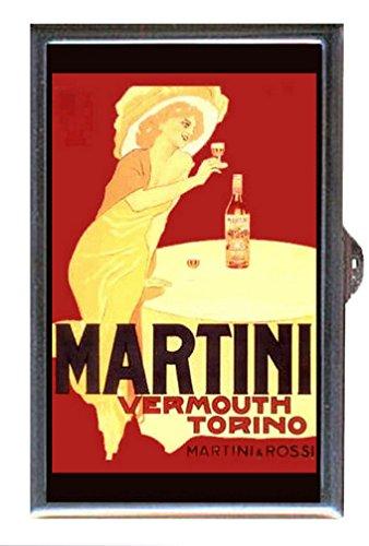 Martini Vermouth Vintage Illustration Decorative Pill Box