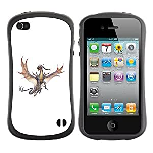 Be-Star Colorful Printed Design Anti-Shock Iface First Class Tpu Case Bumper Cover For Apple iPhone 4 / iPhone 4S ( dragon brown grey flying fierce cartoon ) Kimberly Kurzendoerfer