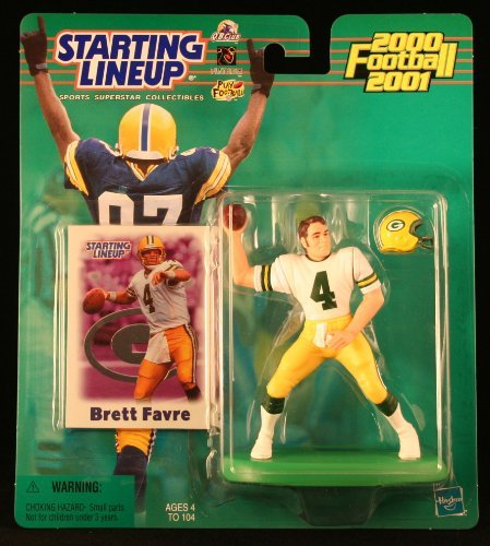 BRETT FAVRE / GREEN BAY PACKERS 2000-2001 NFL Starting Lineup Action Figure & Exclusive NFL Collector Trading - Championship Game Nfc 2007
