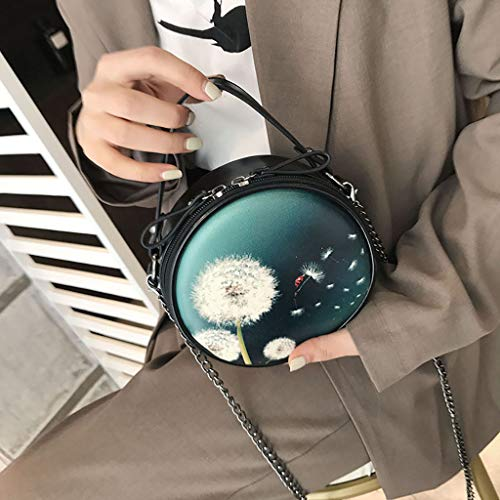 Messager Joker Fourre Noir tout Sac Simple Holywin Ronde Mini Sauvage Casual Femme Uqwp5Kw1ct