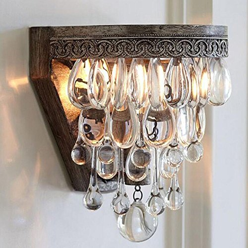 HOMEE Wall lamp- nordic american village luxury palace crystal crystal wall lamp classical living room bedroom bedside corridor wall lamp --wall lighting decorations by HOMEE