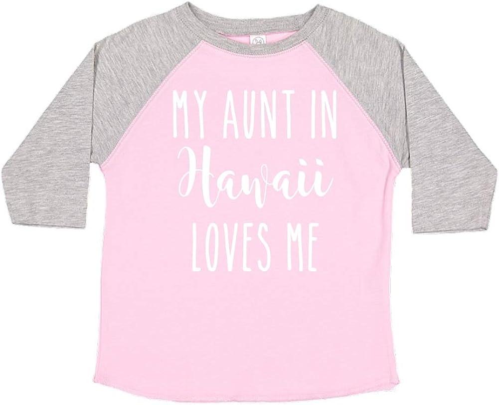 Toddler//Kids Raglan T-Shirt My Aunt in Hawaii Loves Me