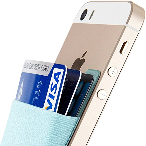 - Sinjimoru Card Holder for Back of Phone, Stick on Wallet Functioning as Credit Card Holder, Phone Wallet and iPhone Card Holder/Card Wallet for Cell Phone. Sinji Pouch Basic 2, Light Blue.