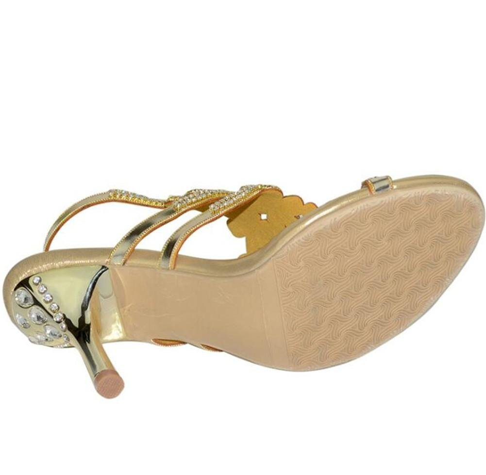 Damen Schuhe Schuhe Schuhe Sandalen Glitzer Strass Knöchelriemen Pumps Kätzchen Heel Party & Abend Club f5d520