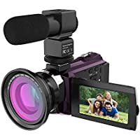 4K Video Camcorder, Rraycom 48MP WiFi Camcorders Ultra-HD Portable Digital Video Camera Recorder 3inch Touch Screen with External Microphone and Wide Angle Lens