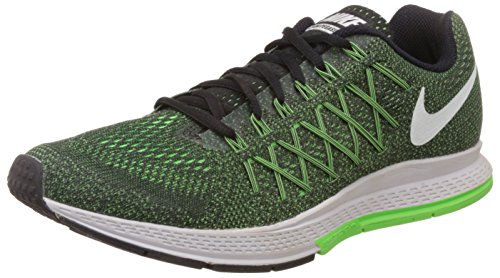 Nike Herren Air Zoom Pegasus 32 Laufschuhe Grün / Weiß / Schwarz (Grün Schlag / Weiß-schwarz)