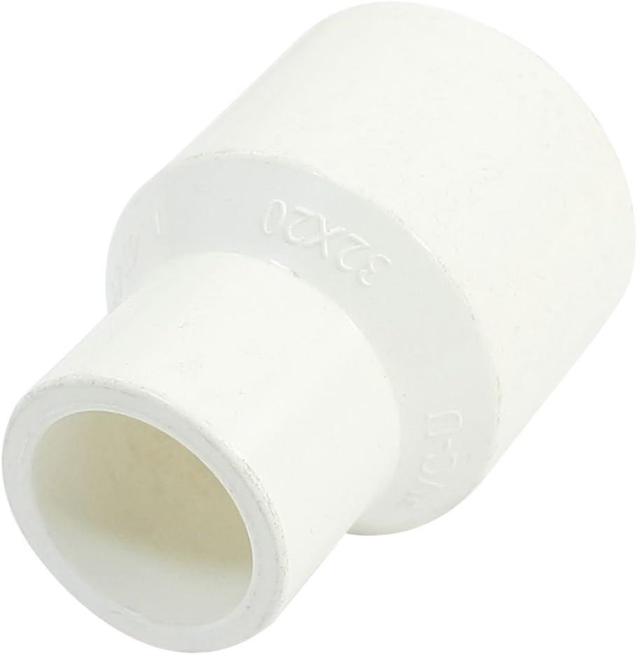 32/mm x 20/mm Innendurchmesser Wei/ß PVC-Rohr Gerade Stecker Fitting