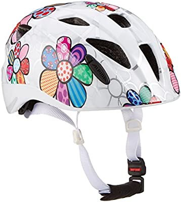ALPINA Ximo Flash Casco de Bicicleta, Girls, White Flower, 45-49 ...