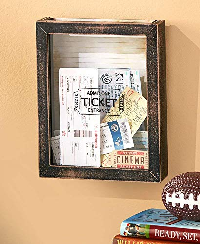 Ticket Wall (Lakeside Memento Wall Storage Boxes. 3 Design Choices. Wall Memory Boxes (Tickets))