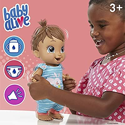 Baby Alive Baby Gotta Bounce Doll Drinks and Wets Kangaroo Outfit Bounces with 25+ SFX and Giggles Black Hair Toy for Kids Ages 3 and Up