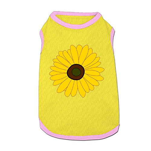 [Chrysanthemum Yellow Flower Puppy Shirt Summer Pet Shirt Dog Cat Costume Clothing] (Dandelion Dog Costume)