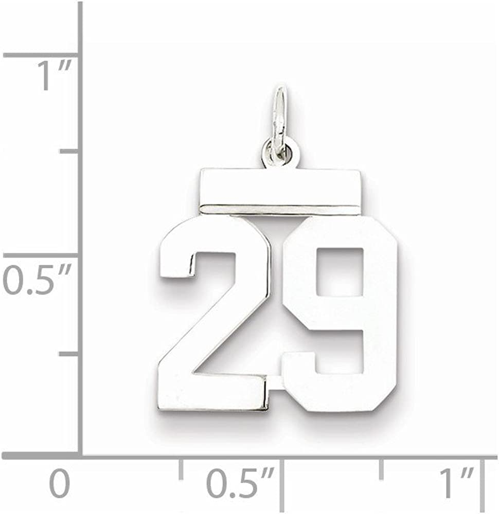 Number 20 Pendant Digit Twenty Charm Fashion Sterling Silver