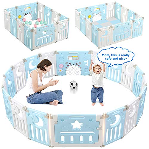 Baby Playpen, Dripex 14-Panel Fo...
