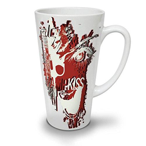 Vampire Kiss Scary Horror Pistol Gun White Tea Coffee Ceramic Latte Mug 17 oz   Wellcoda