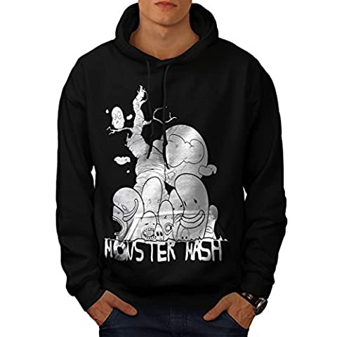 Cute Monster Mash Comic Smiley Men S Hoodie   Wellcoda (The Monster Mash Pixie)