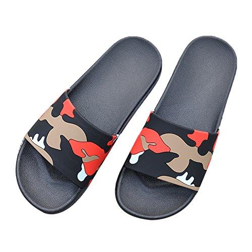Fond Épais Salle Tellw Anti De slip L'été Noir Femelle Bain Intérieur Cool Pantoufles Pantoufles Mâle Pour Maison z8qw8xd4