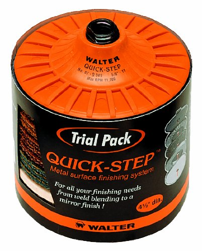 Walter Quick-Step 15 Piece Starter Kit, 4-1/2'' Diameter, 5/8''-11 Arbor (Pack of 5) by Walter Surface Technologies