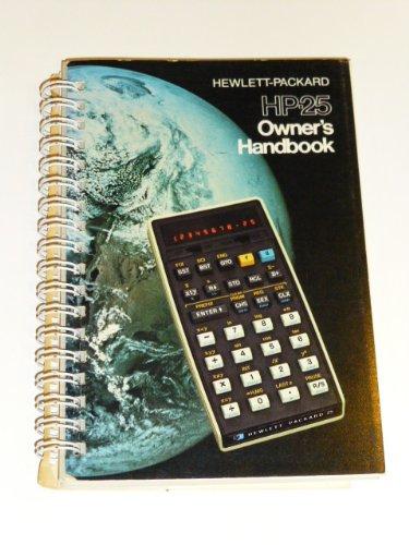 25 Hp Owners Manual (Hewlett-packard Hp-25 Owner's Handbook)