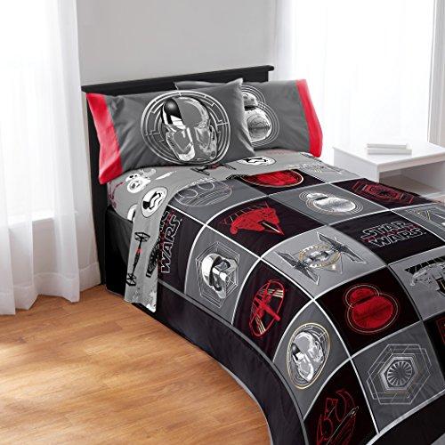 de71df5f92 durable modeling Franco Star Wars Episode 8 Twin/Full Comforter and Full  Sheet Set