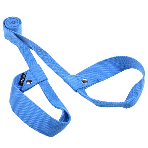 Cosmos® Blue Color Soft & Durable Cotton Yoga / Pilates Mat Harness Strap