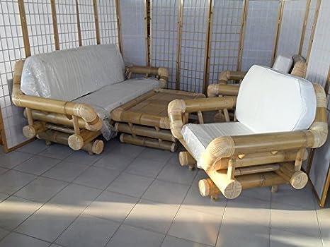 Salotto In Bamboo.Fantasie D Oriente Salotto Bambu Naturale Per Esterno