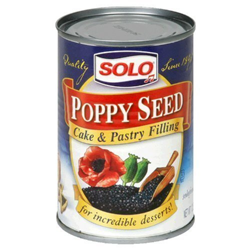 SOLO - Poppy Seed Filling, 12.5 OZ, Pack of 3 ()